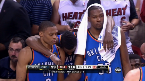 Image result for thunder lose 2012 nba finals